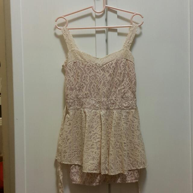 Laced Short Romper