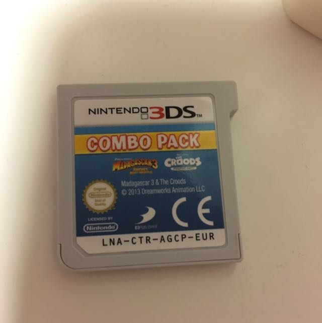Madagascar And Croods Combo 3ds Game