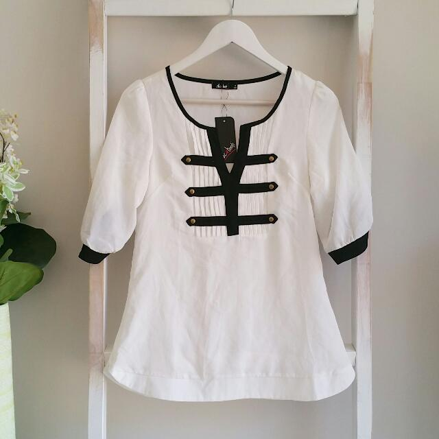 Military Top | Size 8