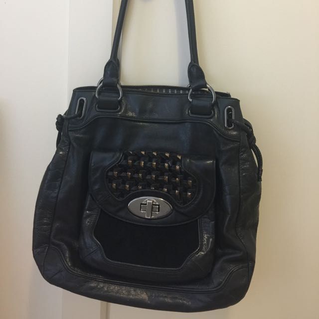 Mimco Patent Leather Handbag