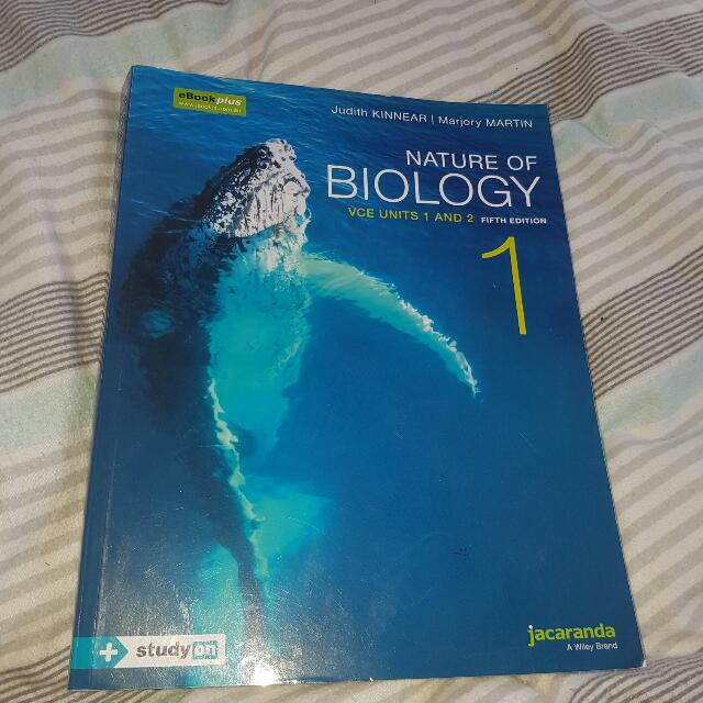Nature Of Biology Units 1 And 2 By Jacaranda 5th Edition. Judith KINNEAR And Marjory MARTIN.