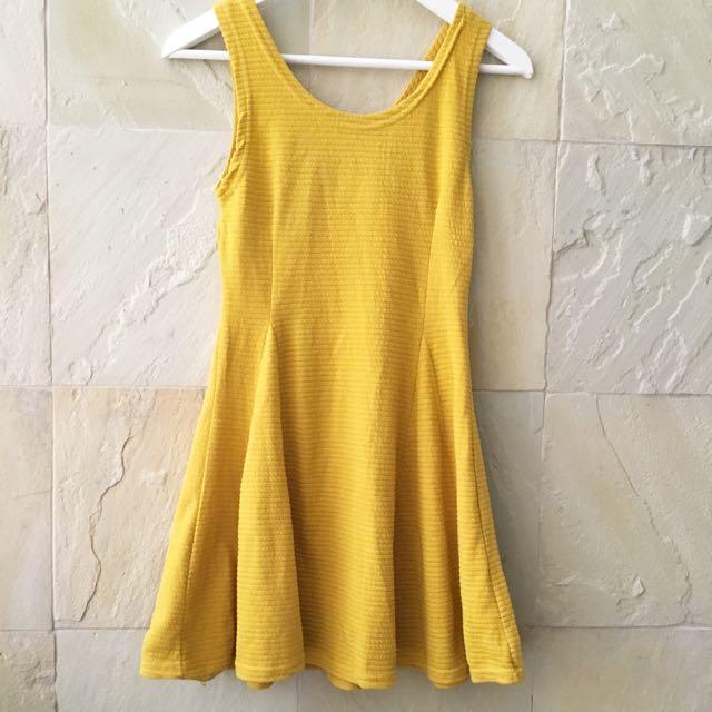 Nava Mustard Dress