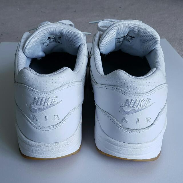 premium selection 49a46 a119c Nike Air Max 1 Leather PA Ostrich White Gum  Size 12 , Men s Fashion,  Footwear on Carousell