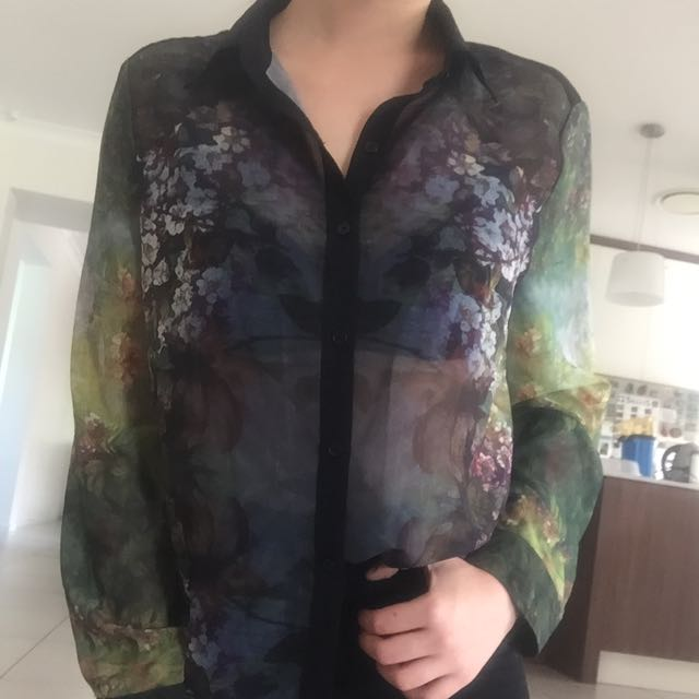 Oversized Sheer Blouse