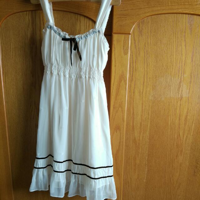 日本製PINKY GIRLS愛心圖案紗質洋裝