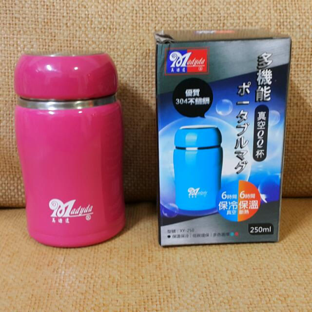 真空QQ瓶,304不鏽鋼材質,容量250ml,真空保冷,斷熱保溫,6小時後約50度,超時尚可愛
