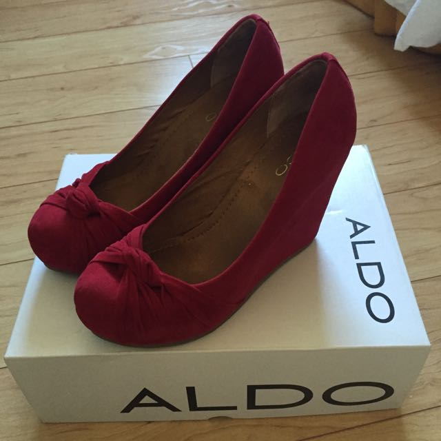 Red Aldo Wedges (Size 6)