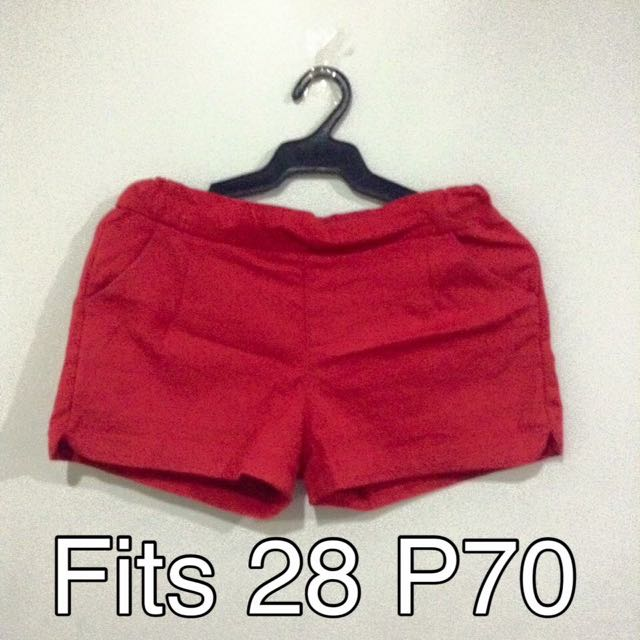 RESERVED Red Shorts