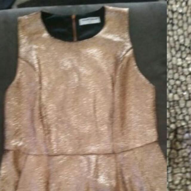 Rose Gold Peplum Size 12