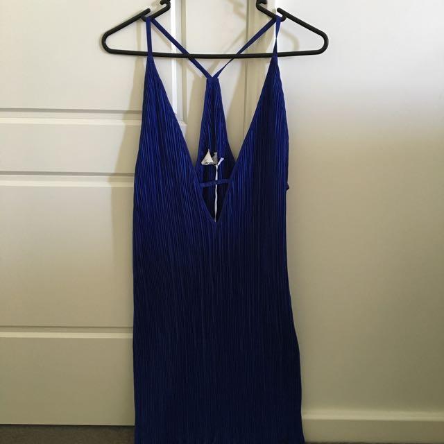 Shakuhachi Pleat Mini Dress