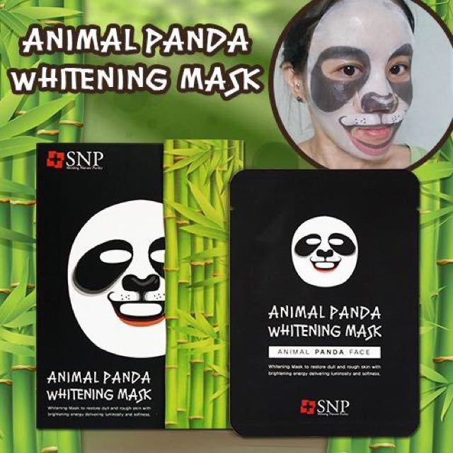 SNP Animal Panda Whitening Mask Sheet