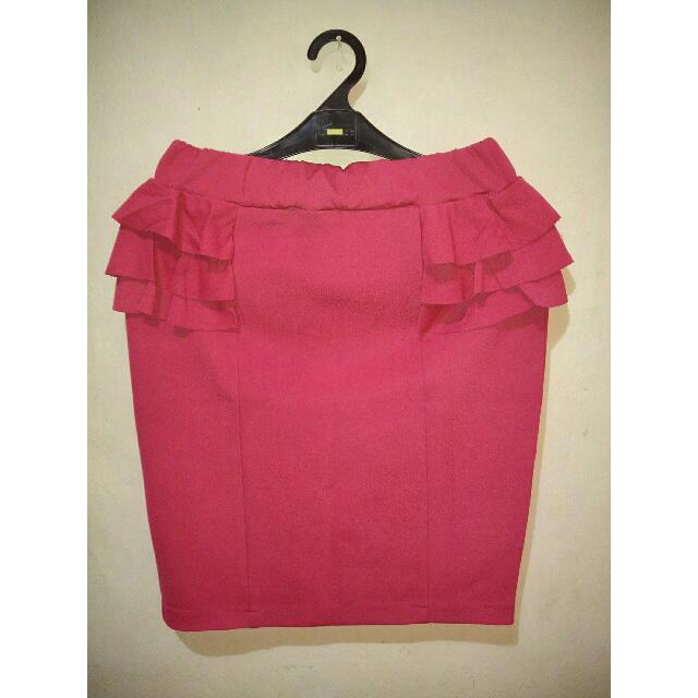 Span Skirt Pink