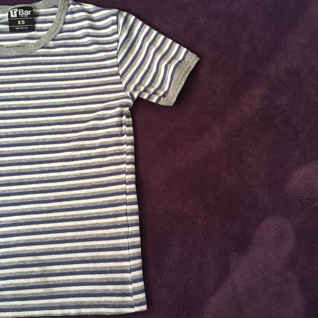 Striped T-Bar Top