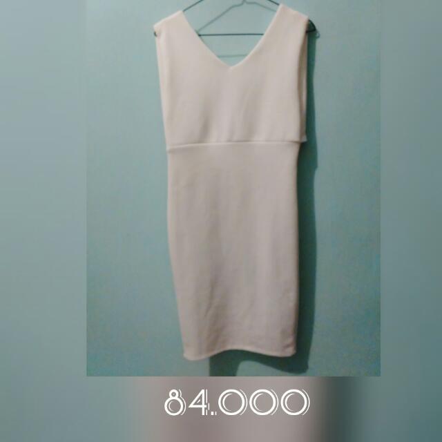 White Backless Dress Bodycon