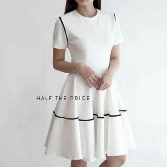 HTP White formal dress REPRICED