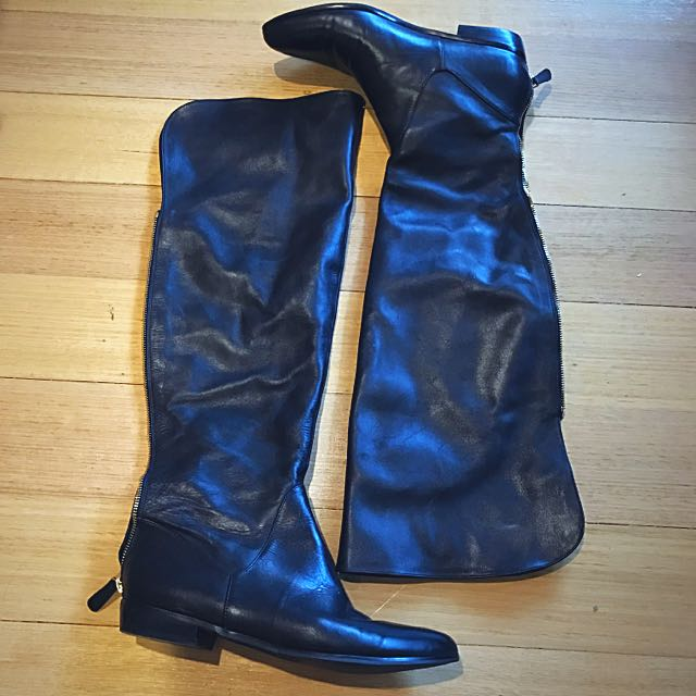 Wittner Over-the-knee Leather Boots, Size 10