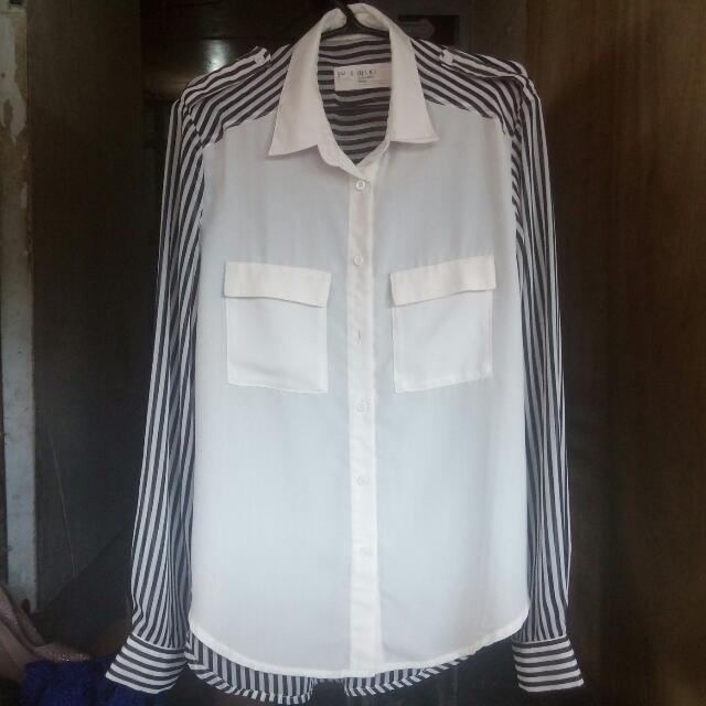Zalora Stripe Button Down