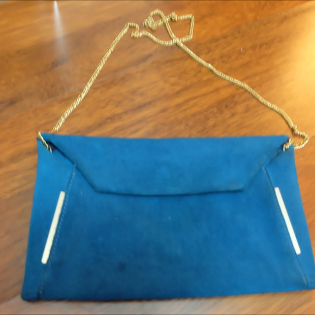 ZARA BASIC BLUE CLUTCH