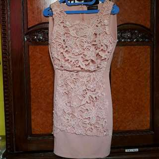 Crem Dress Body Fit