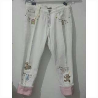 Mademoiselle 3/4 Jeans White(special Edition)
