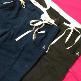 à la sha長褲(咖啡色/藍色) M號