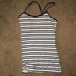 Lululemon Striped Tank Top.