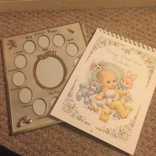 Babies First Year Picture Frame & Calendar
