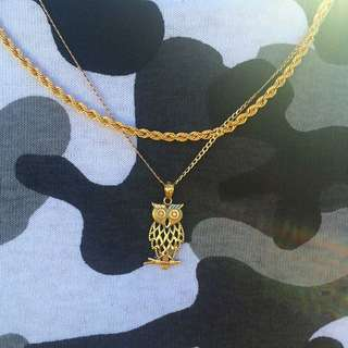 *SALE* 9ct Chain Including 9ct Owl Pendant