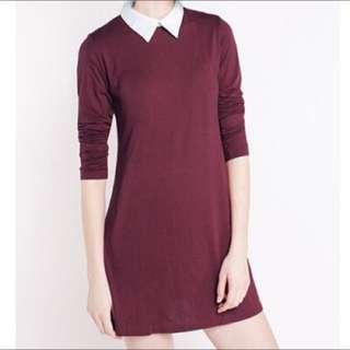 Cottonink Maroon Dress