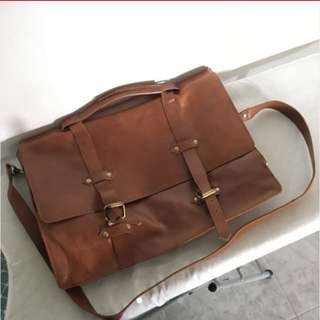 Asos Leather Briefcase Bag (tan Color)