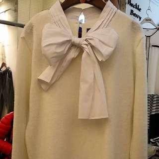 蝴蝶結毛衣
