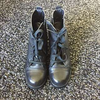 Black Ankle Boots Size 37