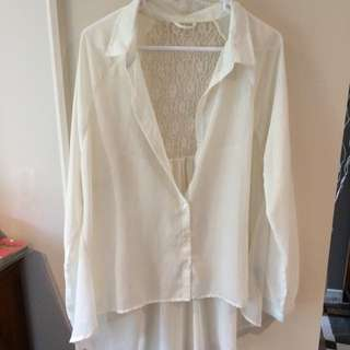 Cream Shear Top