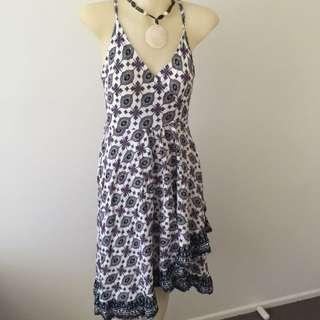 Angel & Biba Wrapped Around Summer Dress Size 8