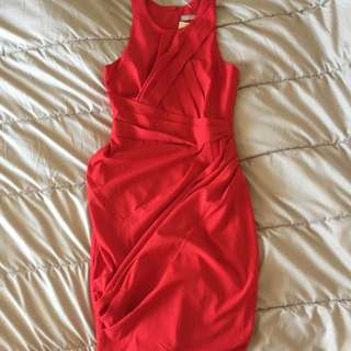 Forcast Red Dress Size 8