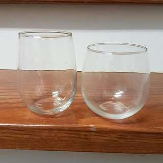 Stemless Red And White Wine Glasses