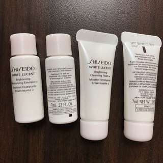 Shiseido Skincare Samples