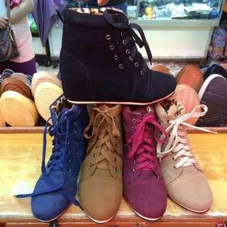 M + Y boots 1.5 hidden wedges