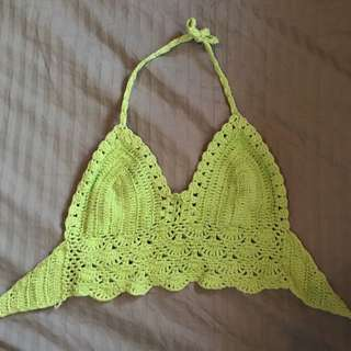 Green Crochet Top