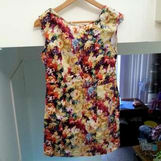 Fitting Floral Cocktail Dress