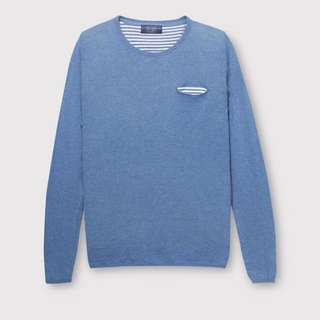 Pull & Bear Round Neck Sweater with Pocket