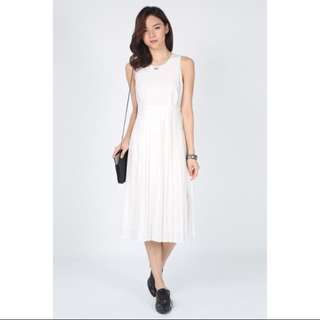 Love Bonito Aletea Pleated Midi Dress XS