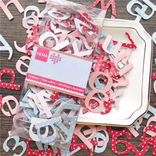 Chipboard alphabet Stickers 192pcs (Nett)