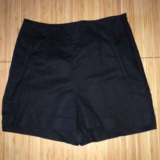 Zara High Waisted Black Shorta