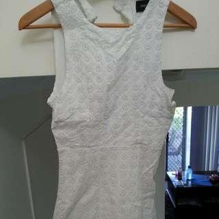 MinkPink White Detailed Dress