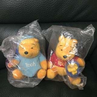 全新 絕版Winnie The Pooh & Friends 公仔