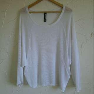 Size S/M Factorie Sheer Batwing Knit