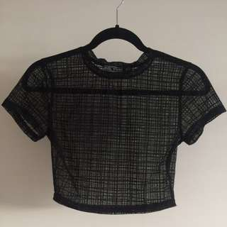 Evil Twin Mesh Crop Top Size XS