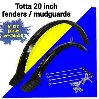 Totta 20 Inch Fenders, Mudguards 406, 451