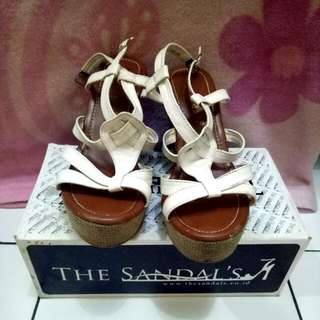 White Wedges The Sandals